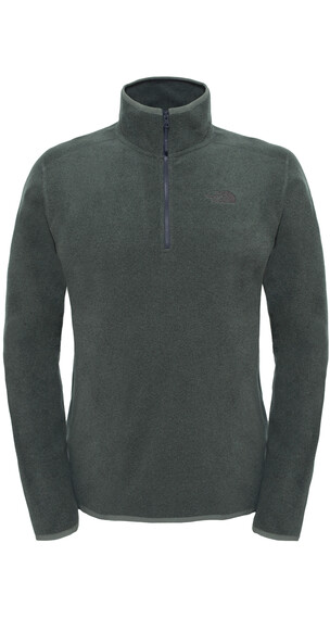The North Face 100 Glacier 1/4 Zip Men Fusebox Grey Black Heather